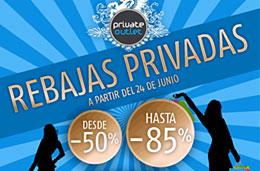 Rebajas de verano también en las tiendas outlet de internet con descuentos de hasta el 85% en Private Outlet, válido hasta 8-Julio-2009