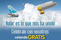 Vuelos gratis comprando un billete para volar en Julio y Agosto en la promoción con motivo de la fusión de ClickAir y Vueling