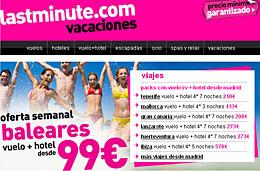 Ofertas de viajes ultimo minuto a Baleares (vuelo+hotel) desde 99€ durante esta semana en LastMinute