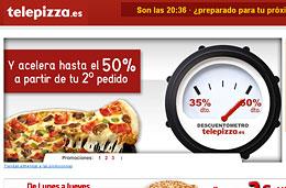 35% de descuento en Telepizza con el primer pedido, y 50% en el segundo