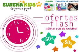 2 dias de ofertas en EurekaKids con descuentos de hasta el 50% en sus ofertas flash