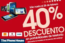 Codigo promocional The Phone House: Ofertas portabilidades a un -40%