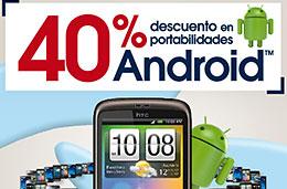 Codigos promocionales en The Phone House de un 40% en portabilidades Android y de un 30% en smartphones