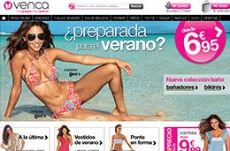Codigo promocional en Venca durante 24h para tener 10€ de descuento en una compra mínima de 30€