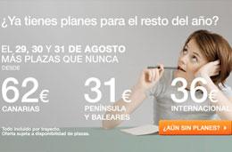 chollos para volar desde 31€ con las ofertas de spanair