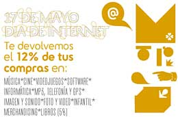 Ofertas especiales en Fnac para el día de Internet, 12% de reembolso