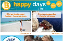 Promoción Happy Days de Barceló Hoteles, hasta un 50% de descuento