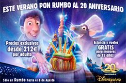 Rumbo al 20 Aniversario de Disneyland® París ¡estancias y vuelos GRATIS para niños menores de 12 años!