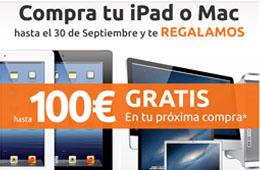 Cheque regalo de hasta 200€ en la próxima compra de Macnificos comprando un iPad o Mac en su tienda