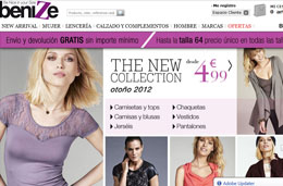 Codigo promocional en Benize para tener un 21% de descuento en toda esta tienda de moda