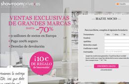 Código promocional para ShowroomPrive con el que tener un -15€ de descuento
