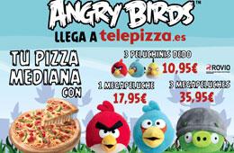 Peluche de Angry Birds gratis al comprar un Menú Familiar en Telepizza
