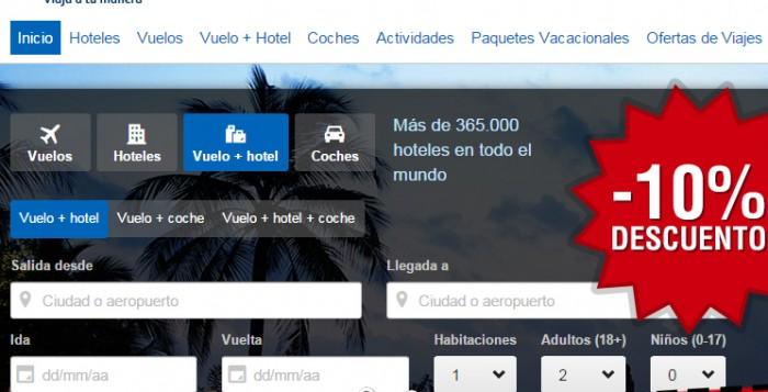 Cupón descuento Expedia hoteles