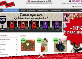 Código promocional de RymanRyman para tener un -10% en toda su tienda de regalos online