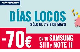 Ofertas The Phone House con sus 3 días locos y 70€ de descuento directo