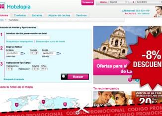 Codigo descuento de Hotelopia para tener un -8% extra en las reservas de hotel con su buscador