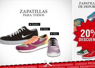 Código promocional de Zalando con un 20% de descuento en zapatos