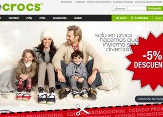 Codigo promocional de un 5% de descuento para la tienda online de zapatos Crocs