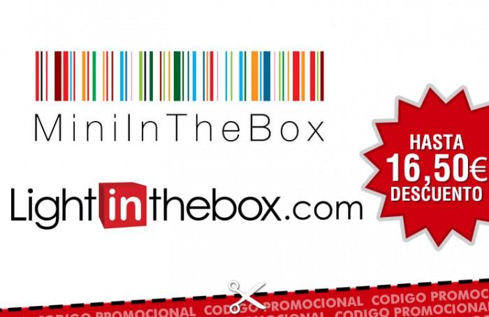 Codigos descuento en Light in the Box y Mini in the Box para tener hasta 16,50€ de descuento