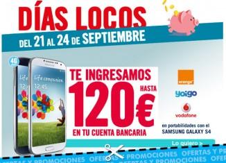 Días Locos de Phone House con hasta 120€ de descuento en Samsung Galaxy S4