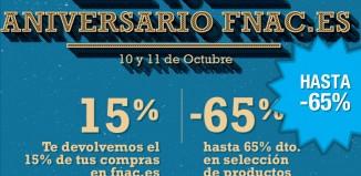 13º aniversario de Fnac con descuentos de hasta el 65% en productos y gastos de envío gratis