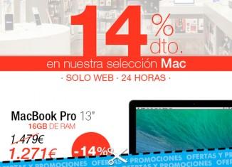 Descuentos del 14% en ordenadores y portátiles Mac en la tienda K-Tuin