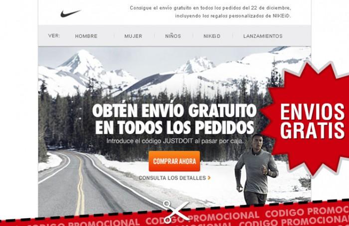 Codigo descuento de Nike Store con el que conseguir gastos de envios gratis