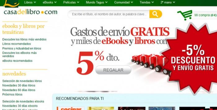 5% descuento y envío gratis en Casa del libro