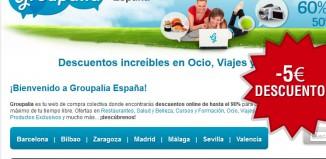 Código promocional Groupalia de 5€ de descuento
