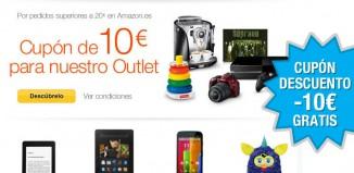 Consigue en Amazon un cupón descuento de 10€ gratis en cualquier compra superior a 20€