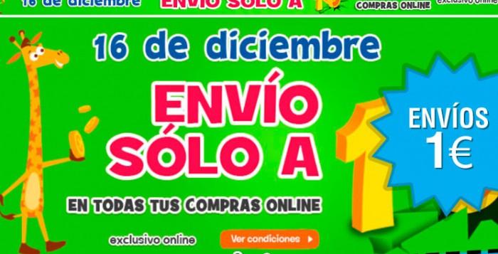 Envíos a 1 euro en Toys R Us