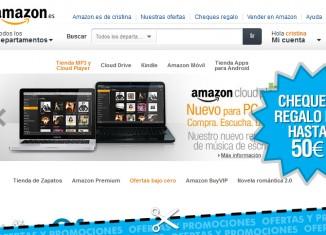 Cheques regalo de Amazon de hasta 50€