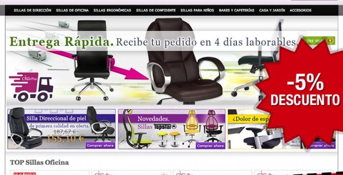 Codigo promocional de un 5% de descuento en la tienda ChairPro especializada en sillas