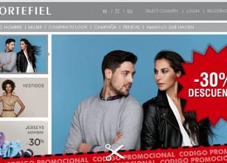 Vale promocional de Cortefiel con un descuento del 30% en moda