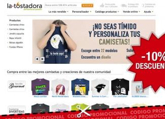 Codigo promocional de La Tostadora con un descuento del 10%