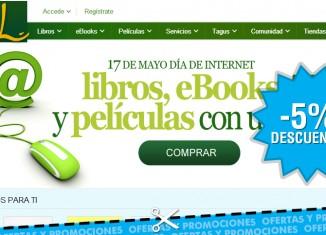 Día de Internet en Casa del Libro con descuentos del 5% en libros, películas y ebooks