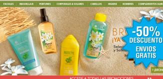 Happy Weekend en Yves Rocher con descuentos de hasta el 50% y envíos gratis con su código promocional