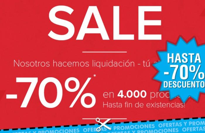 Promo de liquidación de Dress-for-less con descuentos en moda de hasta el 70%