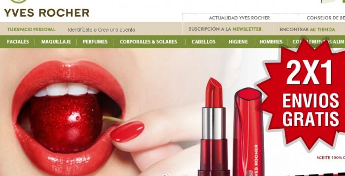 Código promocional con envíos gratis y 2x1 en Yves Rocher