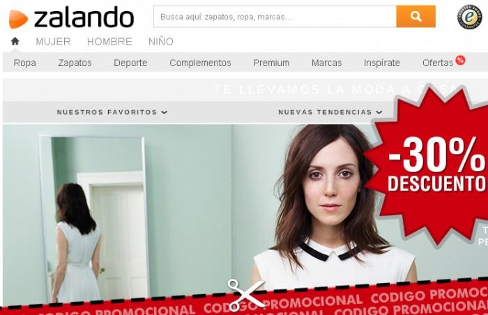 Codigo promocional de Zalando para celebrar el eDay con -30% descuento