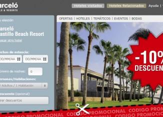 Cupón descuento para el hotel Barcelo Castillo Beach con un 10% de ahorro