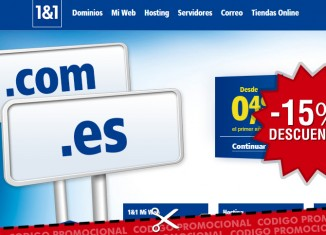 Códigos promocionales de 1&1 con 15% o 15€ de descuento