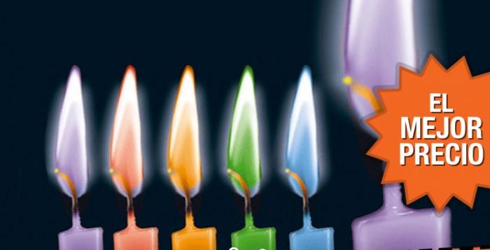 El mejor precio para las velas de colores