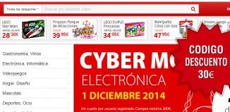 Código descuento Rakuten de 30 euros en Cyber Monday