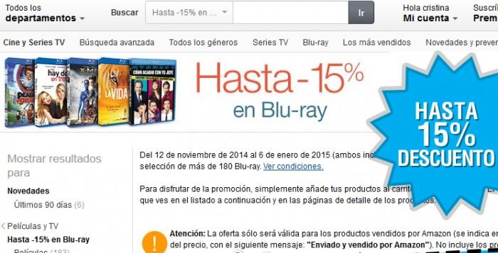 Descuentos en Blu-rays y DVDs en Amazon