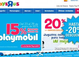 Rebajas en marcas exclusivas y Playmobil en Toys R Us