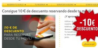 Código promocional de Vueling con 10€ descuento