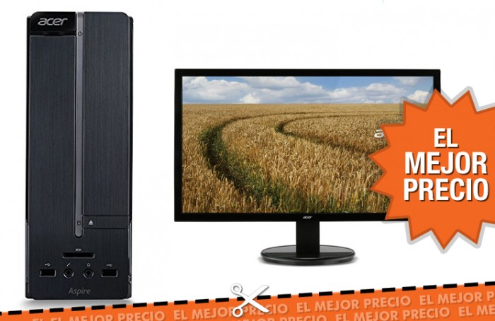 Oferta ordenador Acer Aspire XC-705 + monitor