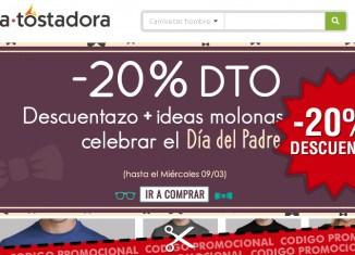 Código promocional de la Tostadora con -20% descuento para celebrar el Día del Padre