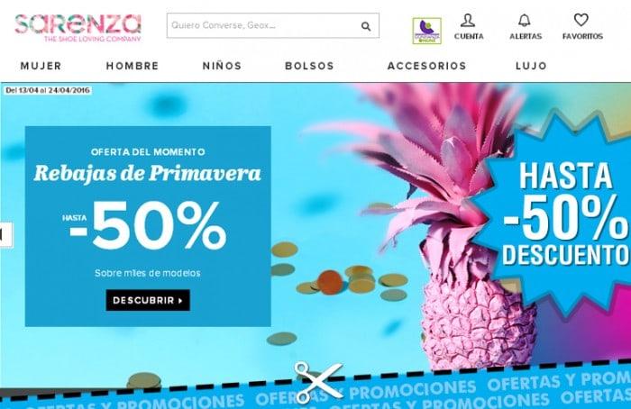 Rebajas de primavera en Sarenza de hasta -50%